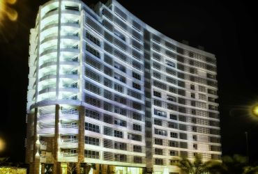 Atlas Kish Tower, Kish Island at night
