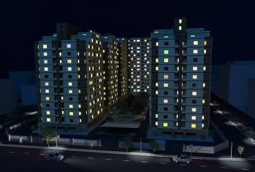 Setareh Poonak Residential Towers-night