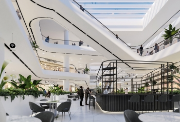 معماری مدرن و مینیمال مرکز تجاری تفریحی سیتادیوم رشت
