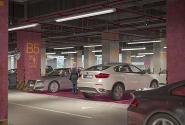 Pink Parking in Rasht Citadium