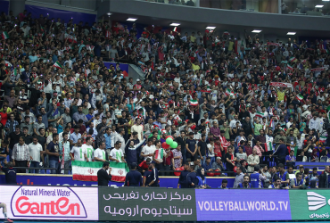 The one ranian sponsorship of Iran national volleyball team