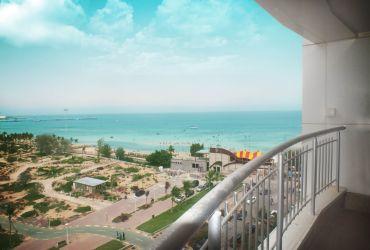 دید به خلیج فارس از برج اطلس کیش، جزیره زیبای کیش