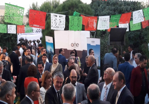 The attendance of The One Iranian in 25th presence anniversary of Mexico Embassy in Iran