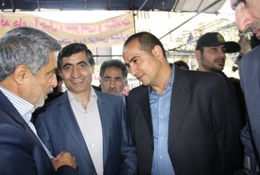 Special visit of the director of Industry, Mine and Commerce organization of Tehran district from funder and constructor of Shahriar commercial center