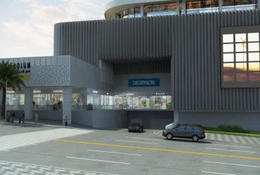 مرکز تجاری سیتادیوم ارومیه؛ ورودی پارکینگ