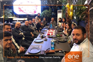 همکاران شرکت دوان ایرانیان در دورهمی تولد دوان